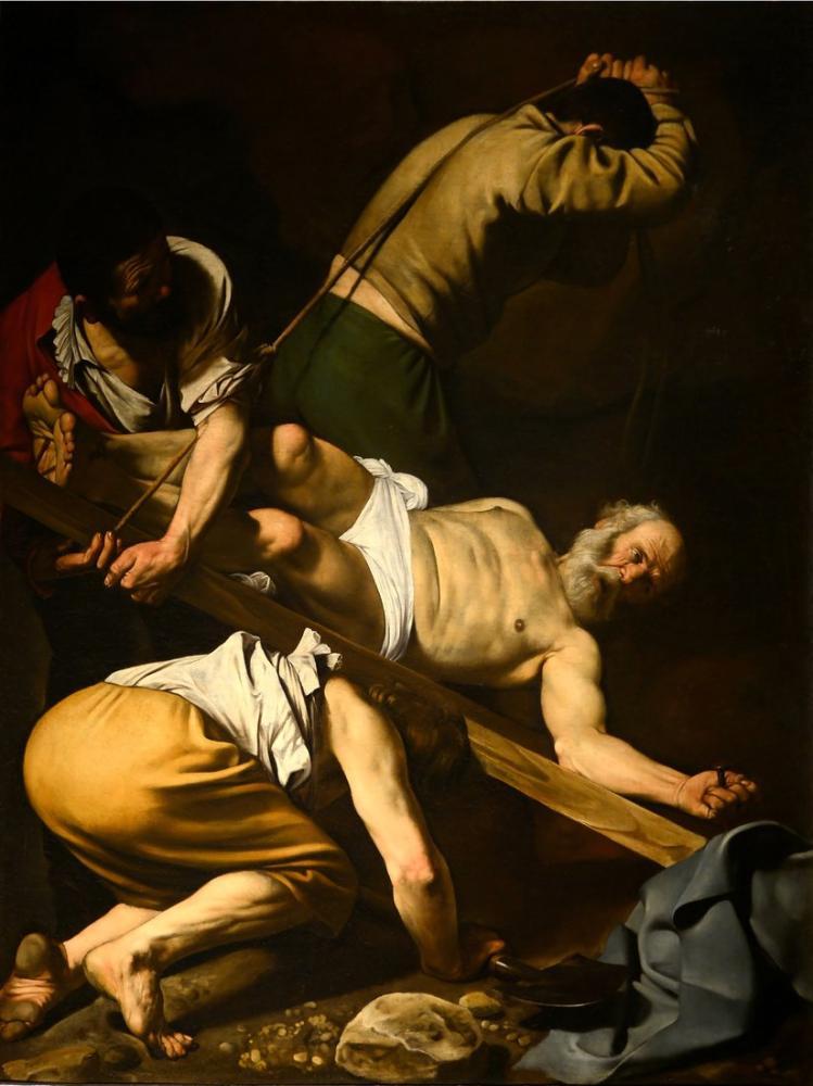 Caravaggio Peter Çarmıha Germe, Kanvas Tablo, Caravaggio, kanvas tablo, canvas print sales