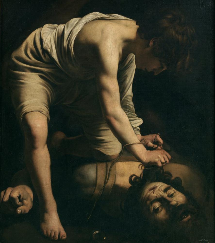 Caravaggio David And Goliath, Canvas, Caravaggio