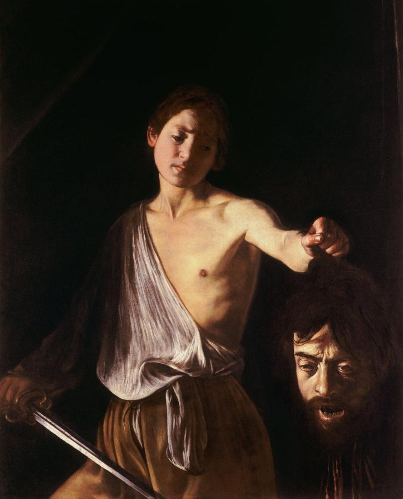 Caravaggio Goliath Başı İle David I, Kanvas Tablo, Caravaggio