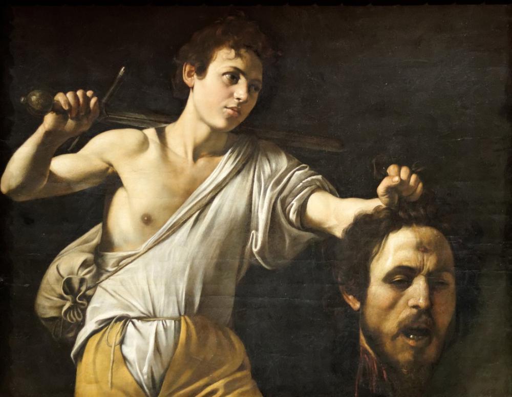 Caravaggio Goliath Başı İle David II, Kanvas Tablo, Caravaggio