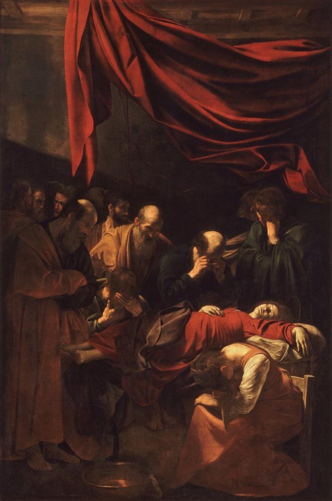 Caravaggio Death Of The Virgin, Canvas, Caravaggio, kanvas tablo, canvas print sales