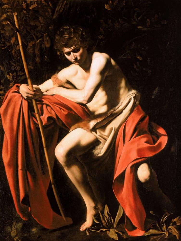Caravaggio Vaftizci Yahya, Kanvas Tablo, Caravaggio, kanvas tablo, canvas print sales