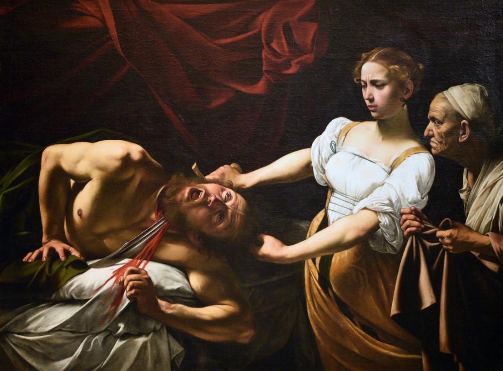 Caravaggio Judith Beheading Holofernes, Kanvas Tablo, Caravaggio