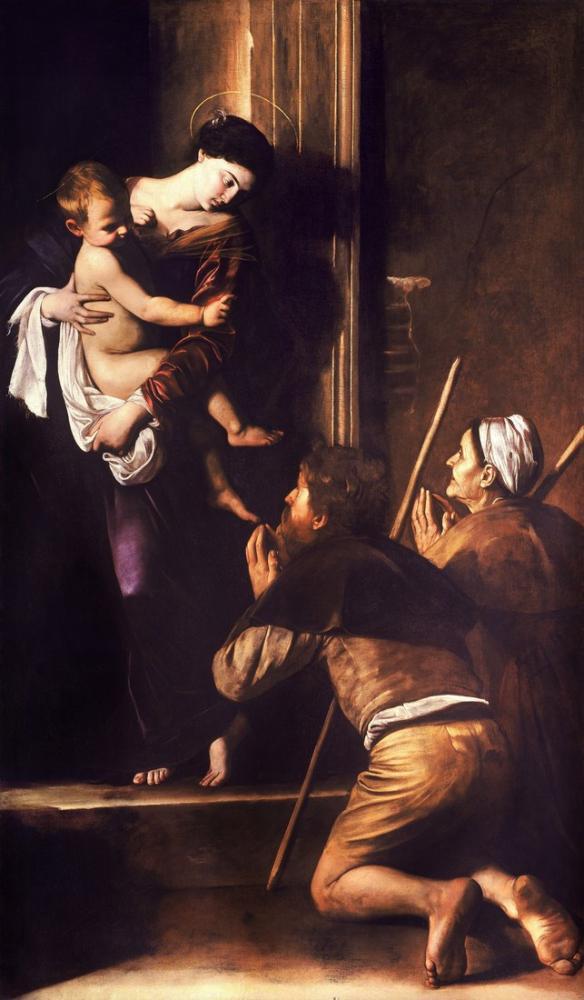 Caravaggio Madonna Loreto, Kanvas Tablo, Caravaggio