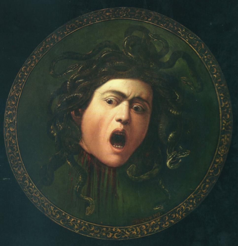 Caravaggio Medusa Murtola, Kanvas Tablo, Caravaggio