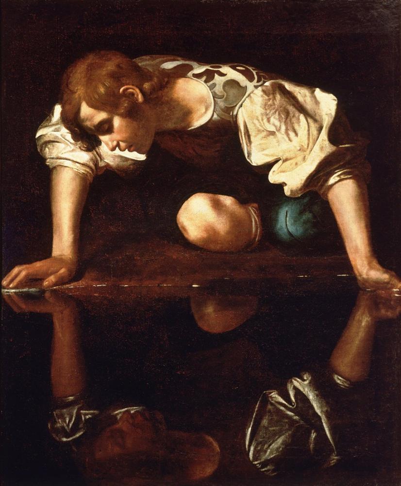 Caravaggio Narcissus, Canvas, Caravaggio, kanvas tablo, canvas print sales