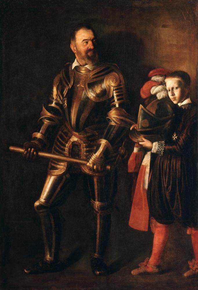 Caravaggio Alof De Wignacourt Portresi Ve Onun Sayfası, Kanvas Tablo, Caravaggio