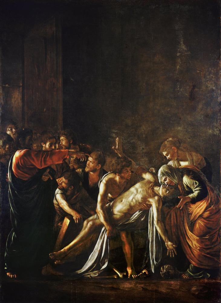Caravaggio Lazarus Yükselişi, Kanvas Tablo, Caravaggio