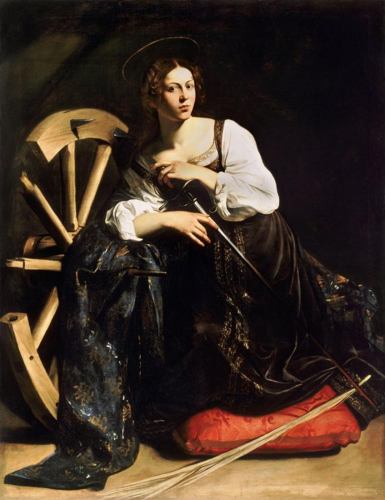 Caravaggio Saint Catherine, Canvas, Caravaggio, kanvas tablo, canvas print sales