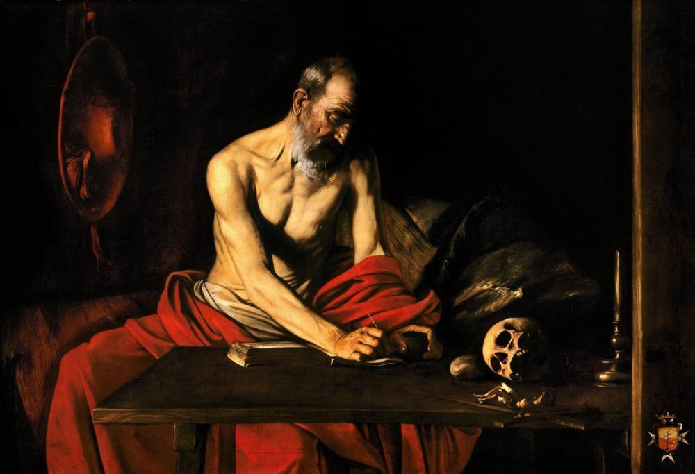 Caravaggio Saint Jerome Writing II, Canvas, Caravaggio