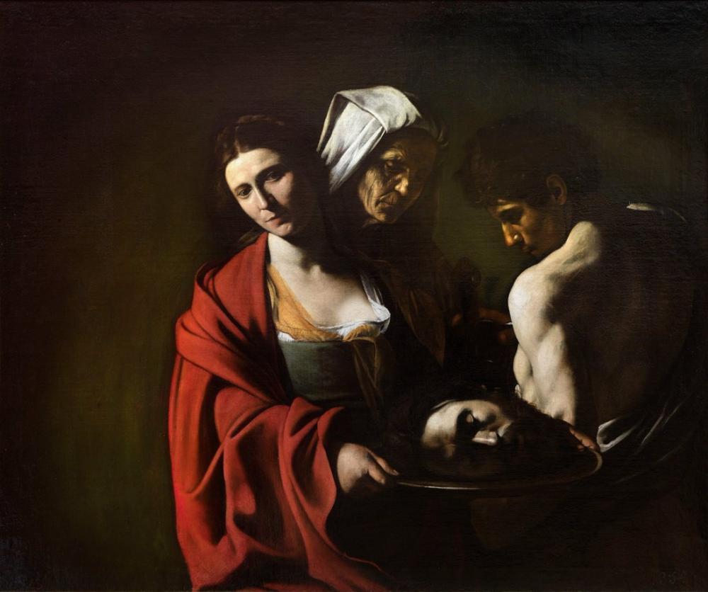 Caravaggio Baptistin Başı İle Selam, Kanvas Tablo, Caravaggio