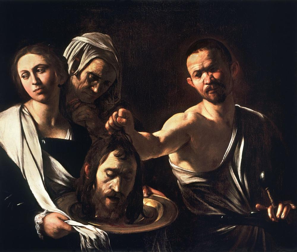 Caravaggio Vaftizci Yahya Başı İle Salome, Kanvas Tablo, Caravaggio