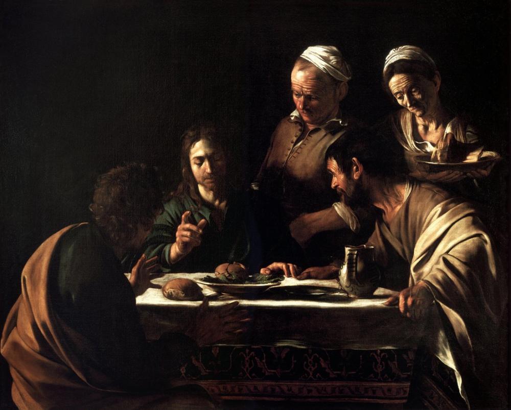 Caravaggio Emmaus Akşam Yemeği I, Kanvas Tablo, Caravaggio