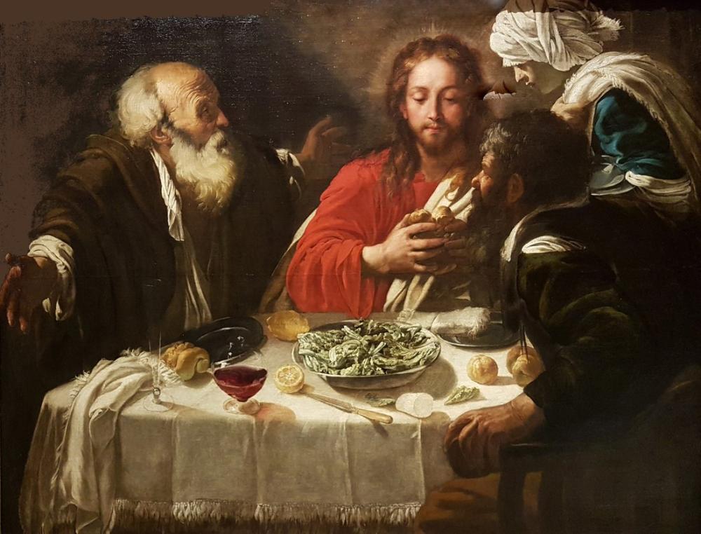 Caravaggio Emmaus Akşam Yemeği II, Kanvas Tablo, Caravaggio