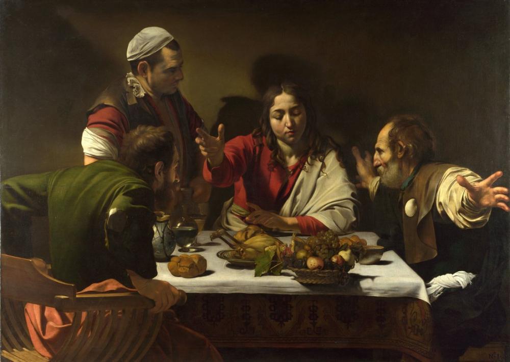 Caravaggio Emmaus Akşam Yemeği III, Kanvas Tablo, Caravaggio