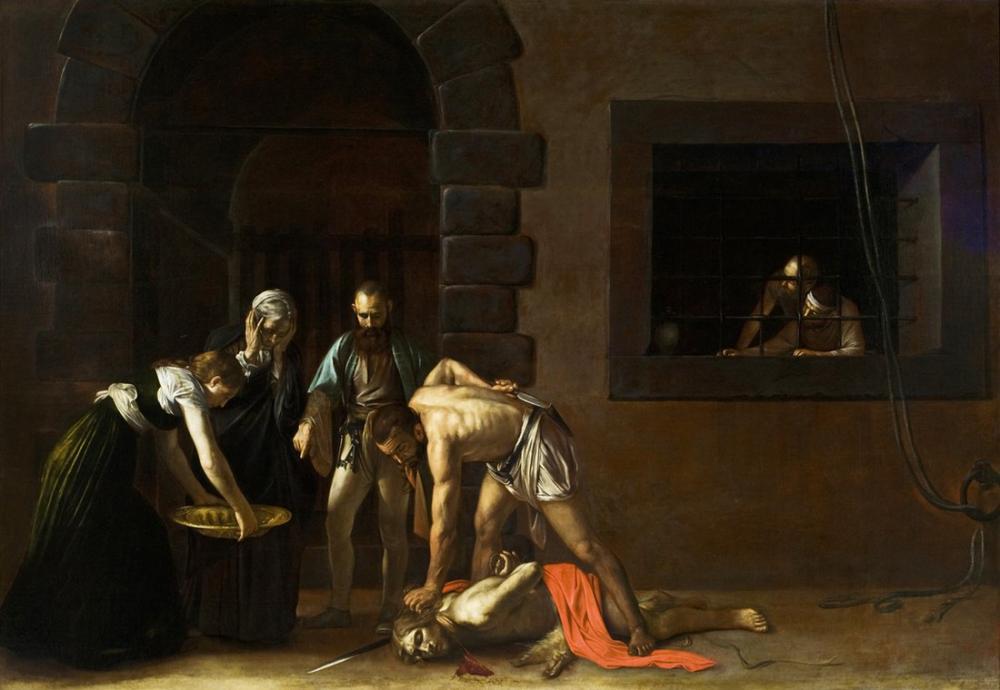Caravaggio Aziz Vaftizci Yahya Kafasını Kesmek, Kanvas Tablo, Caravaggio