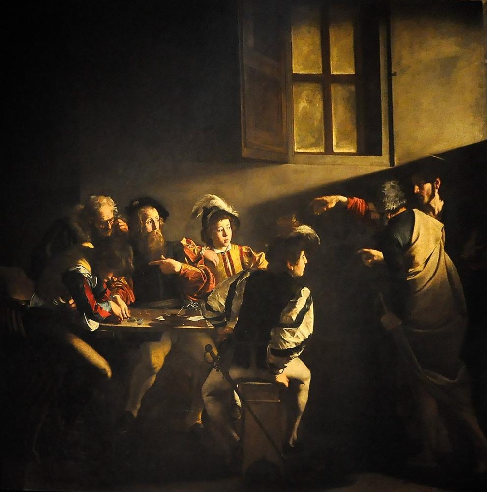Caravaggio Aziz Matthew Çağrısı, Kanvas Tablo, Caravaggio