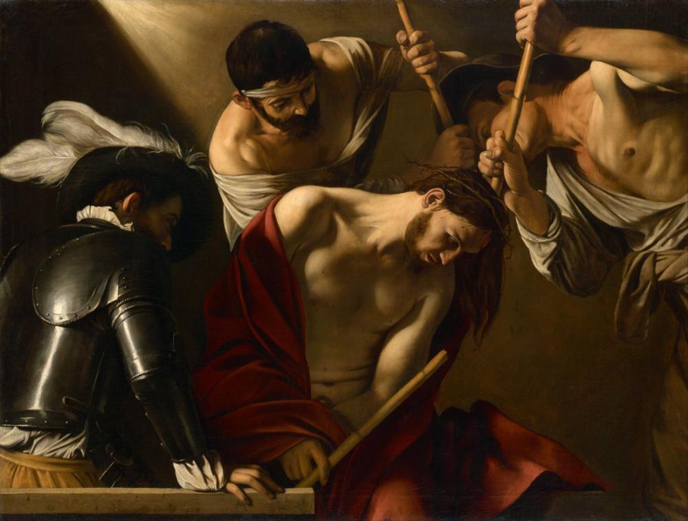 Caravaggio Dikenler İle Taçlandırmak, Kanvas Tablo, Caravaggio