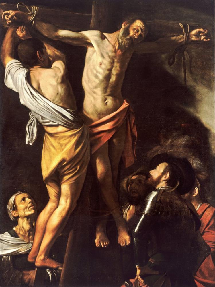 Caravaggio Aziz Andrew Çarmıha Germe, Kanvas Tablo, Caravaggio