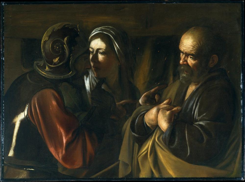 Caravaggio Aziz Peter İnkar Edilmesi, Kanvas Tablo, Caravaggio