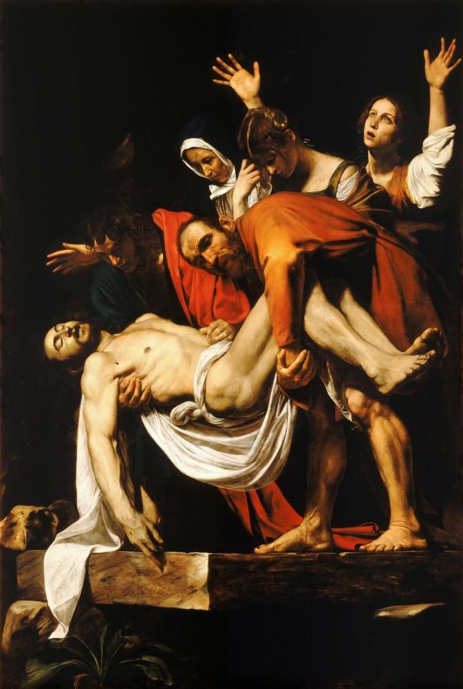 Caravaggio İsa Mezarı, Kanvas Tablo, Caravaggio