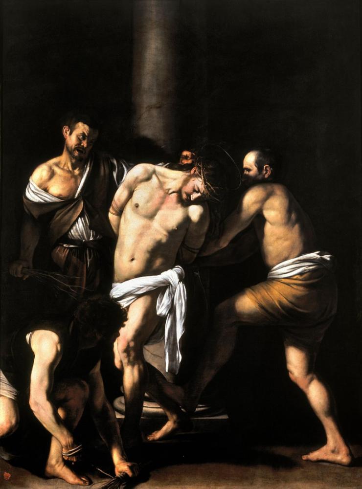 Caravaggio Mesih Kırbaçlama, Kanvas Tablo, Caravaggio