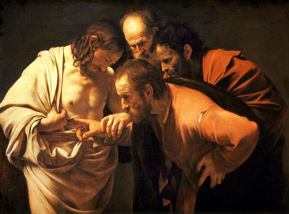 Caravaggio Aziz Thomas İnançsızlığı, Kanvas Tablo, Caravaggio