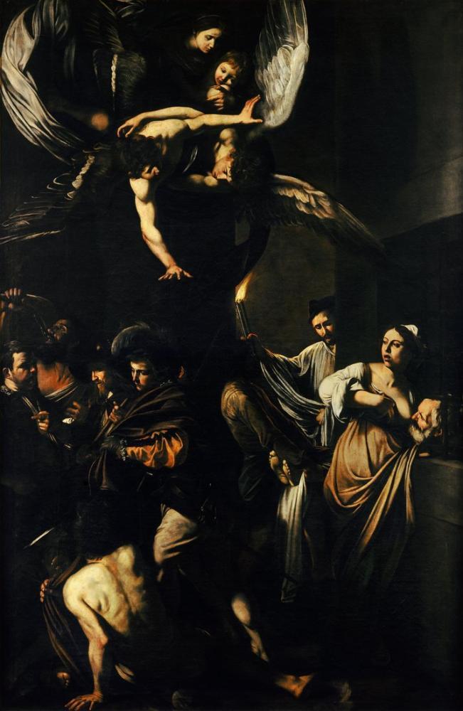 Caravaggio The Seven Works Of Mercy, Canvas, Caravaggio, kanvas tablo, canvas print sales