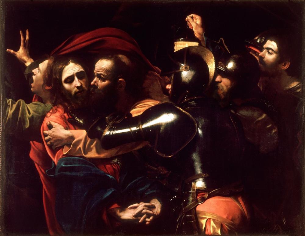 Caravaggio İsa Caravaggio Alınması, Kanvas Tablo, Caravaggio