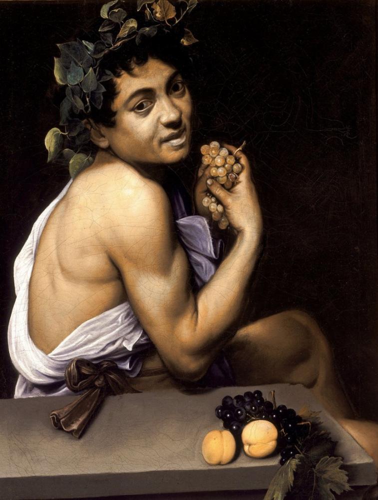 Caravaggio Genç Hasta Bacchus, Kanvas Tablo, Caravaggio