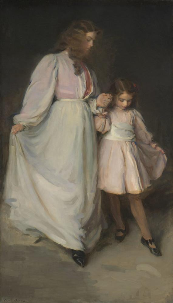 Cecilia Beaux, Dorothea and Francesca, Canvas, Cecilia Beaux, kanvas tablo, canvas print sales