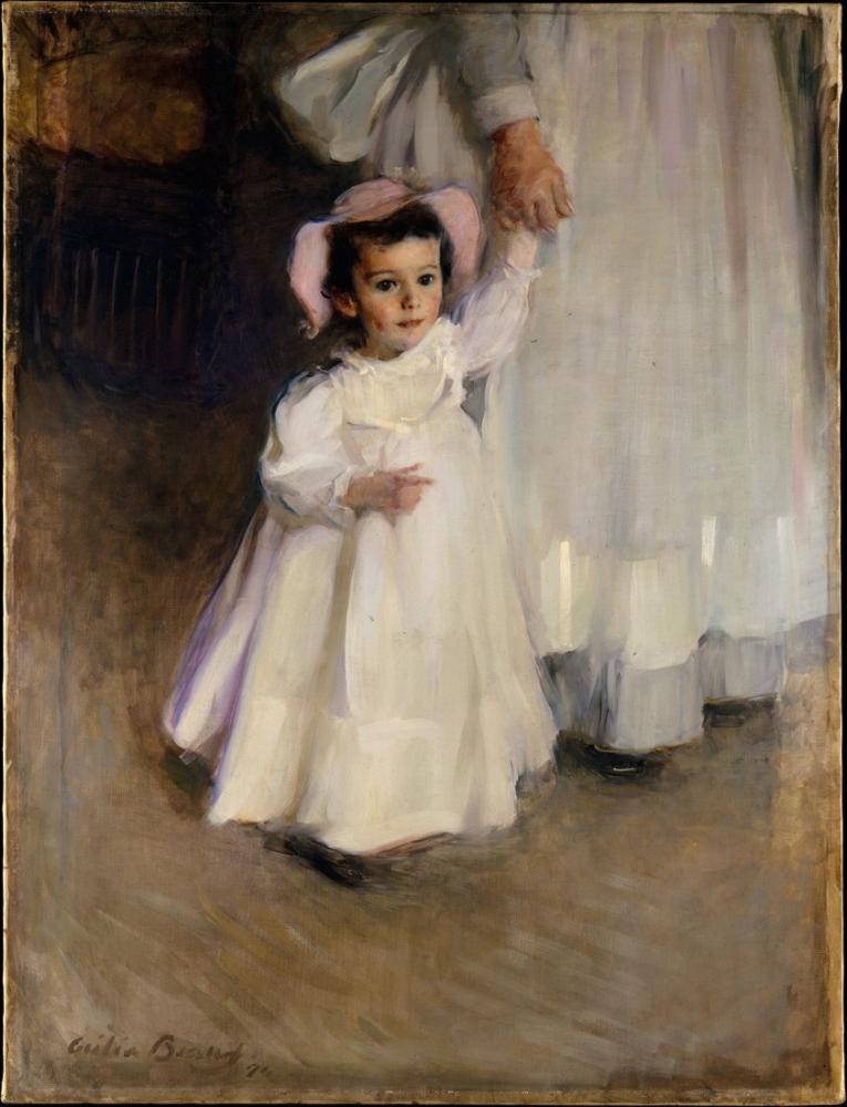 Cecilia Beaux, Hemşire ile Ernesta, Kanvas Tablo, Cecilia Beaux