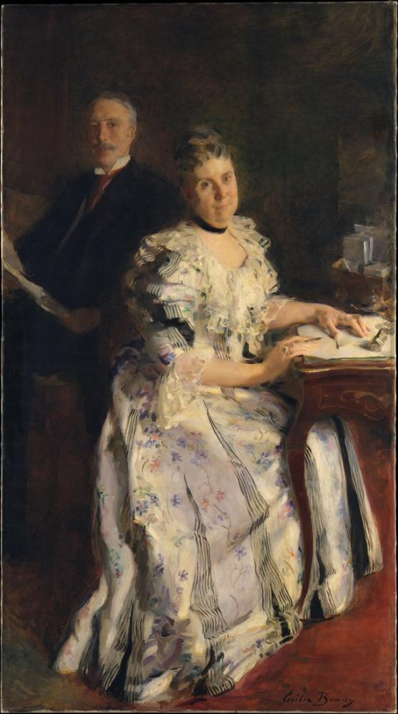 Cecilia Beaux, Mr and Mrs Anson Phelps Stokes, Canvas, Cecilia Beaux, kanvas tablo, canvas print sales