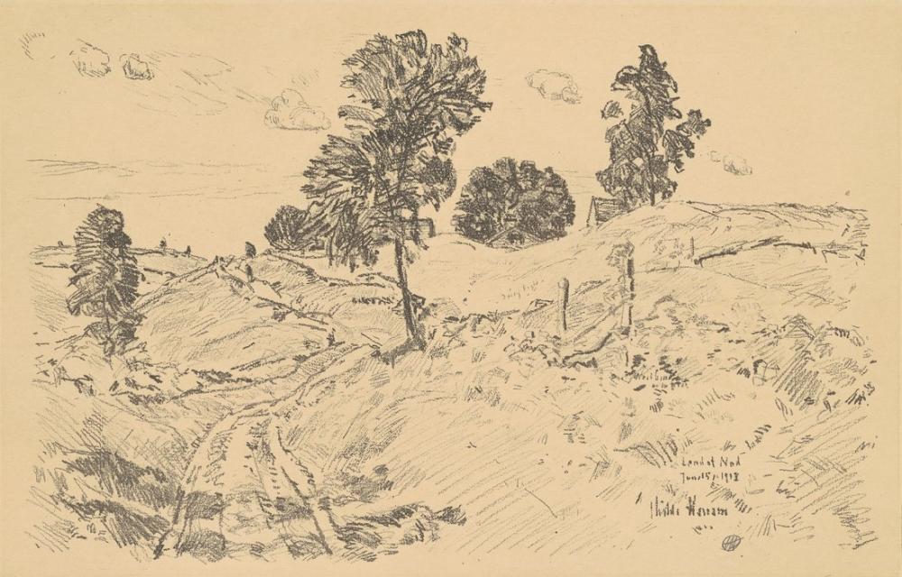 Childe Hassam, Landscape Land of Nod, Canvas, Childe Hassam, kanvas tablo, canvas print sales