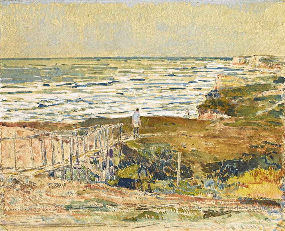 Childe Hassam, Montauk Balıkçısı, Kanvas Tablo, Childe Hassam, kanvas tablo, canvas print sales