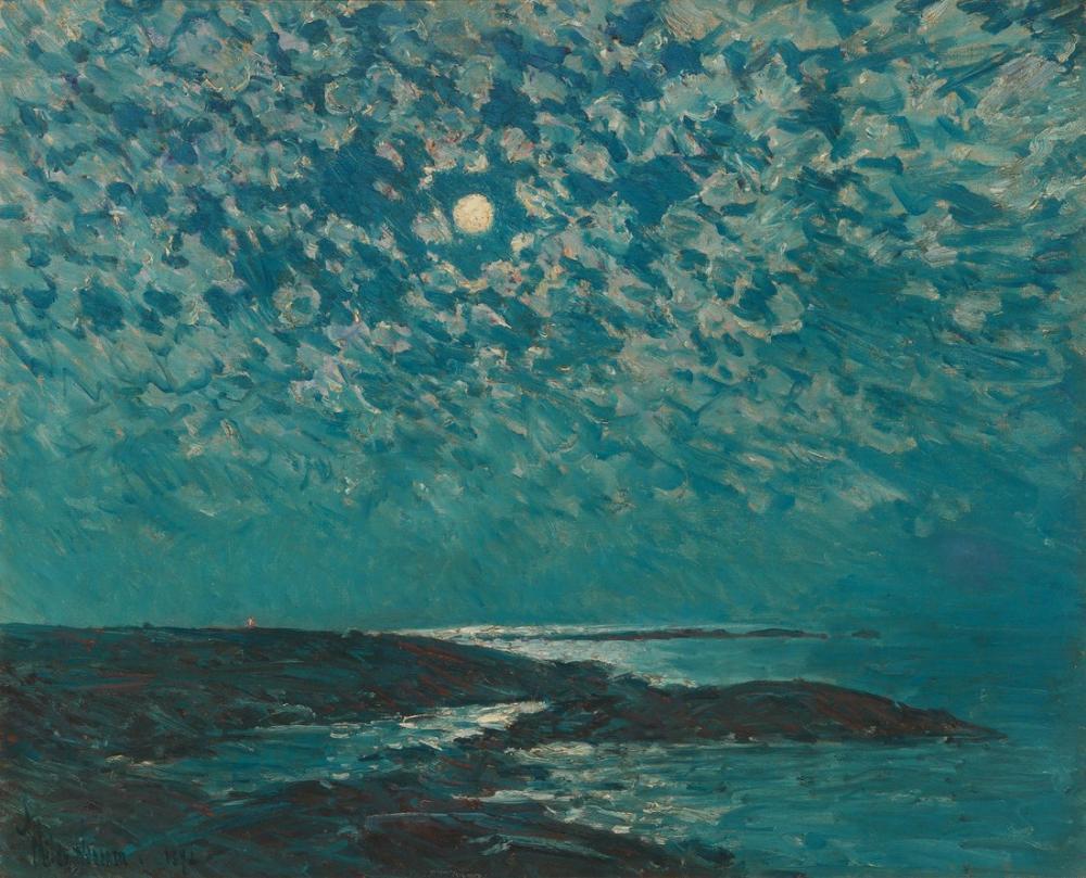 Childe Hassam, Ay Işığının Adacıkları, Kanvas Tablo, Childe Hassam