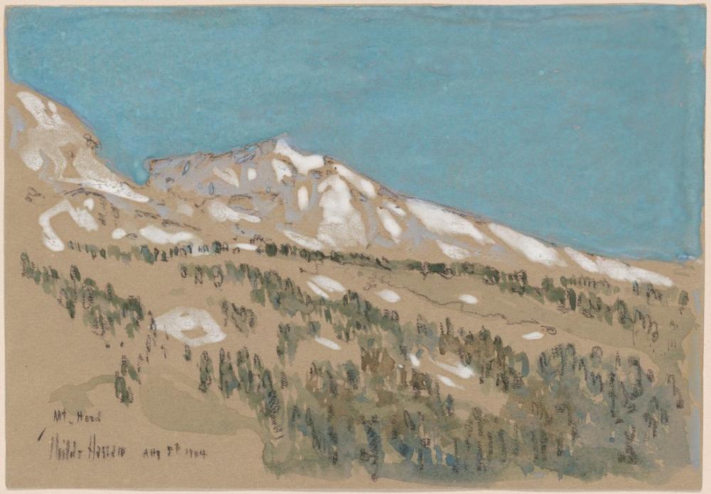 Childe Hassam, Hood Oregon Dağı, Kanvas Tablo, Childe Hassam