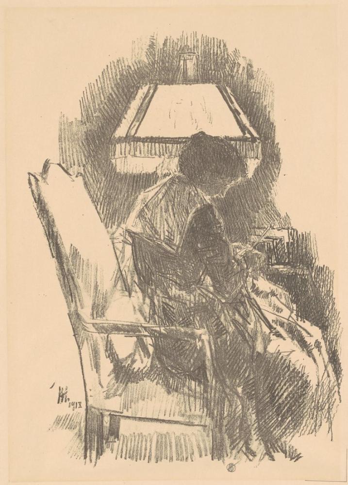 Childe Hassam, Mrs. Hassam Knitting, Figure, Childe Hassam, kanvas tablo, canvas print sales