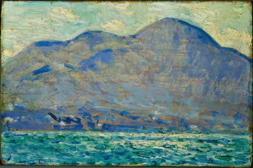 Childe Hassam, Mt. Newburgh da Bir Fener, Kanvas Tablo, Childe Hassam, kanvas tablo, canvas print sales