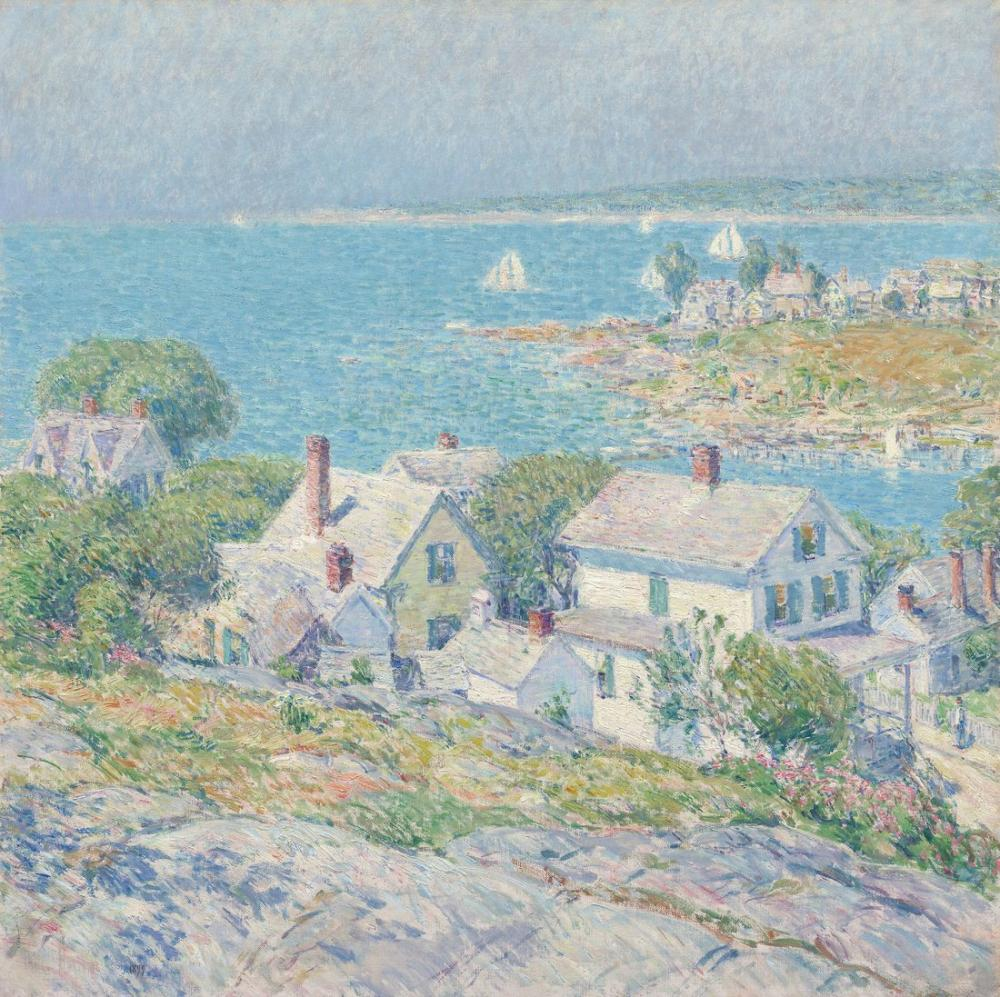 Childe Hassam, New England Headlands, Canvas, Childe Hassam, kanvas tablo, canvas print sales