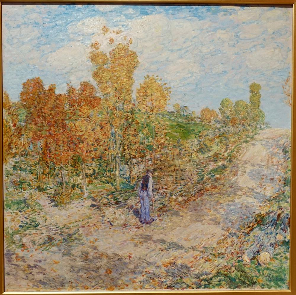 Childe Hassam, New England Road, Canvas, Childe Hassam, kanvas tablo, canvas print sales