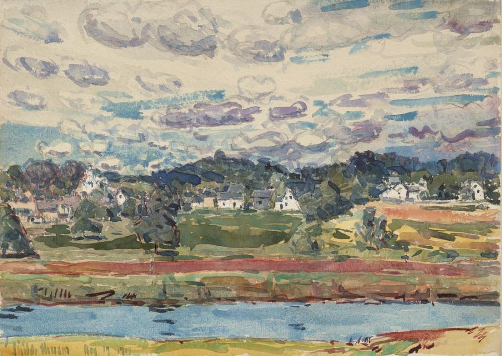 Childe Hassam, Yeni Alanlar New Hampshire, Kanvas Tablo, Childe Hassam