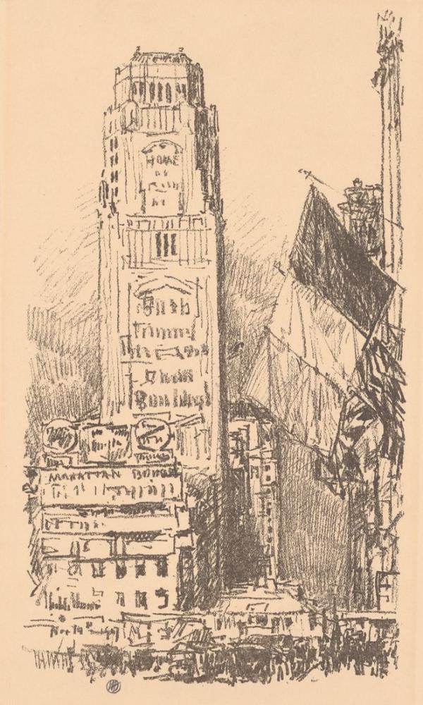Childe Hassam, New York Buket, Kanvas Tablo, Childe Hassam