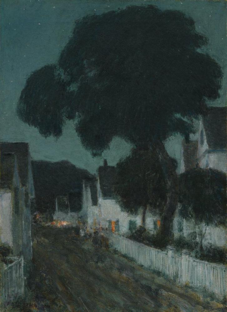 Childe Hassam, Nocturne Provi, Canvas, Childe Hassam, kanvas tablo, canvas print sales