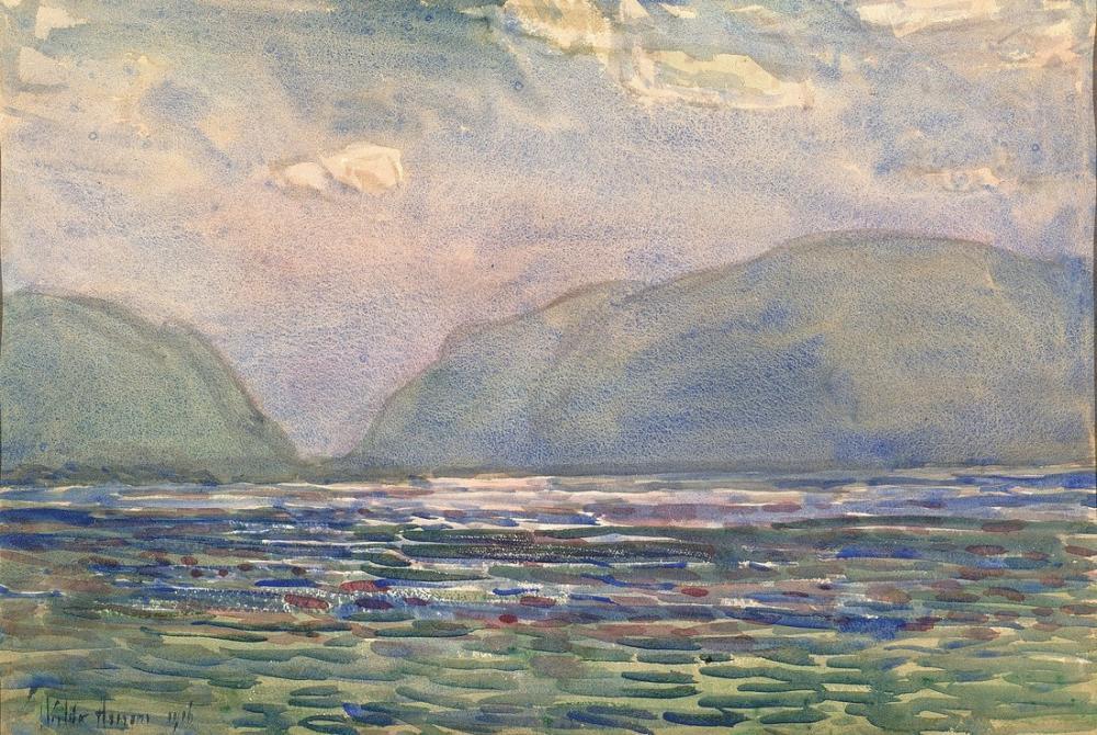 Childe Hassam, Öğlen Newburgh Yukarıda, Kanvas Tablo, Childe Hassam, kanvas tablo, canvas print sales