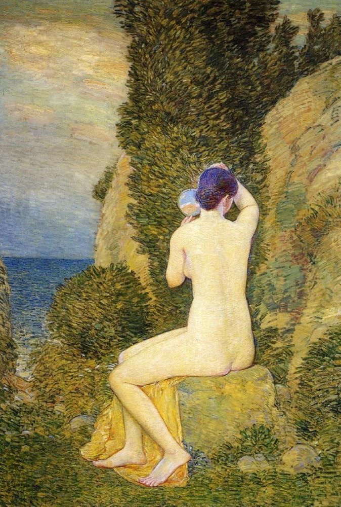Childe Hassam, Aphrodite Appledore, Canvas, Childe Hassam, kanvas tablo, canvas print sales