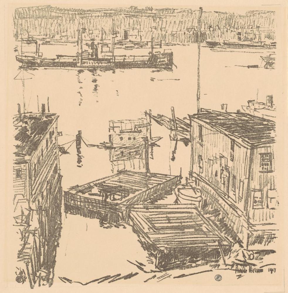 Childe Hassam, Kuzey Nehri, Kanvas Tablo, Childe Hassam, kanvas tablo, canvas print sales