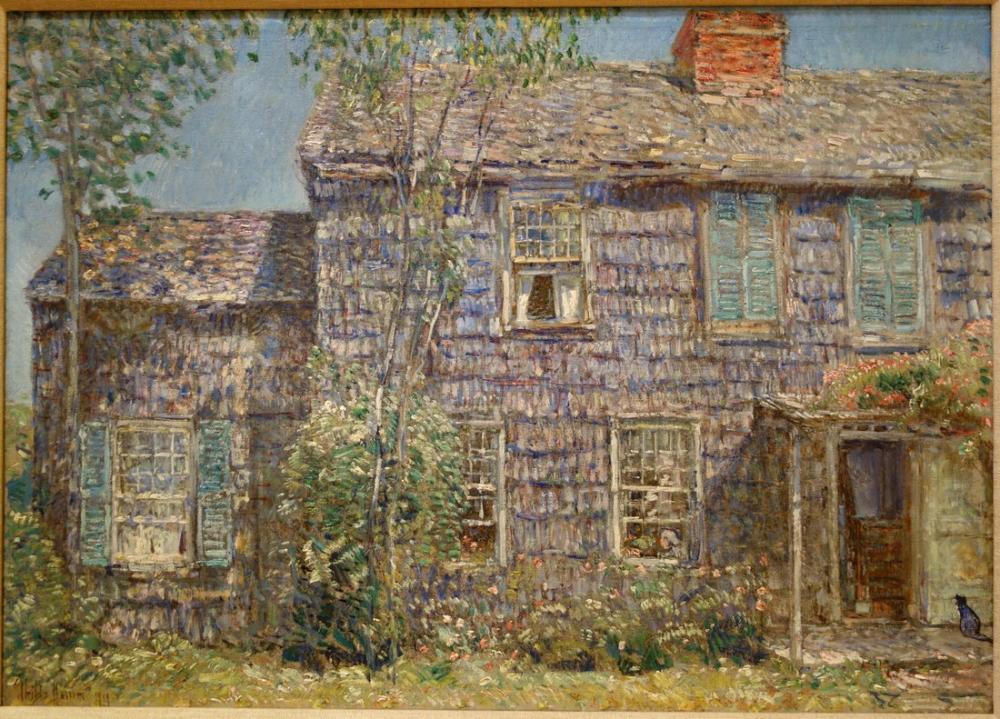 Childe Hassam, Eski Ev Doğu Hampton Uzun Adası, Kanvas Tablo, Childe Hassam, kanvas tablo, canvas print sales