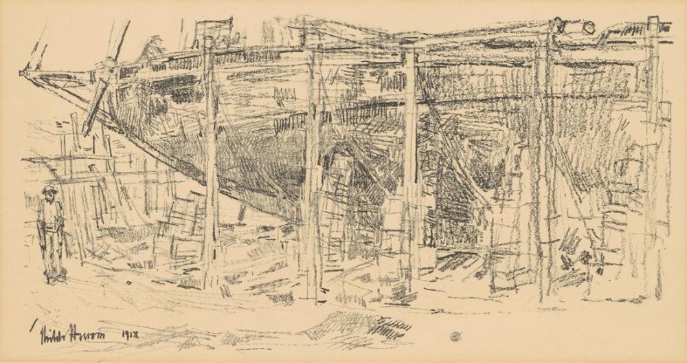 Childe Hassam, On the Ways, Canvas, Childe Hassam, kanvas tablo, canvas print sales