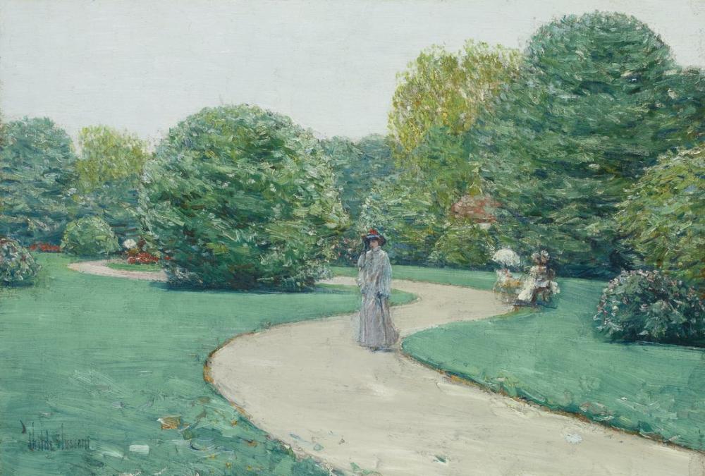 Childe Hassam, Monceaux Parkı, Kanvas Tablo, Childe Hassam, kanvas tablo, canvas print sales